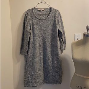 3.25 Sleeve Marled Sweater Dress